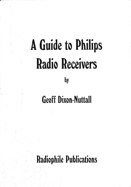 A Guide to Philips Radio Receivers - PDF