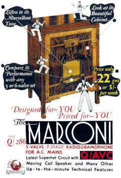 Laminated Poster - Marconi Q286 A3