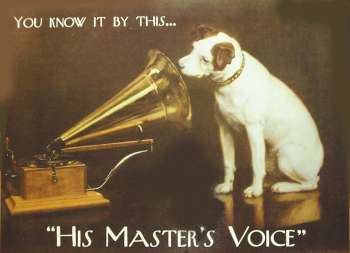 Laminated Poster - His Masters Voice A3