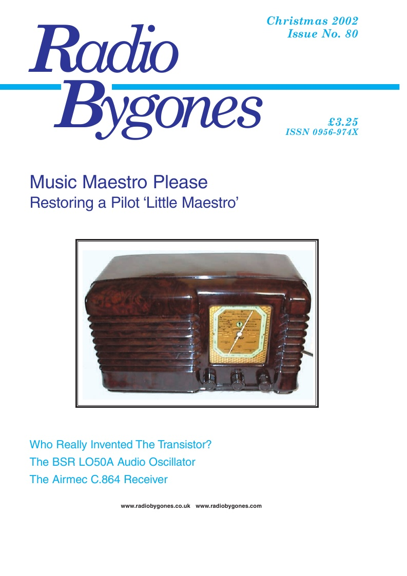 Radio Bygones Issue 80 - PDF