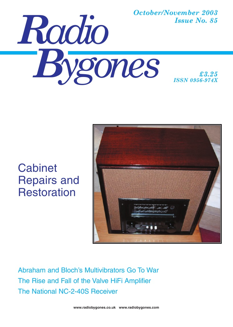 Radio Bygones Issue 85 - PDF