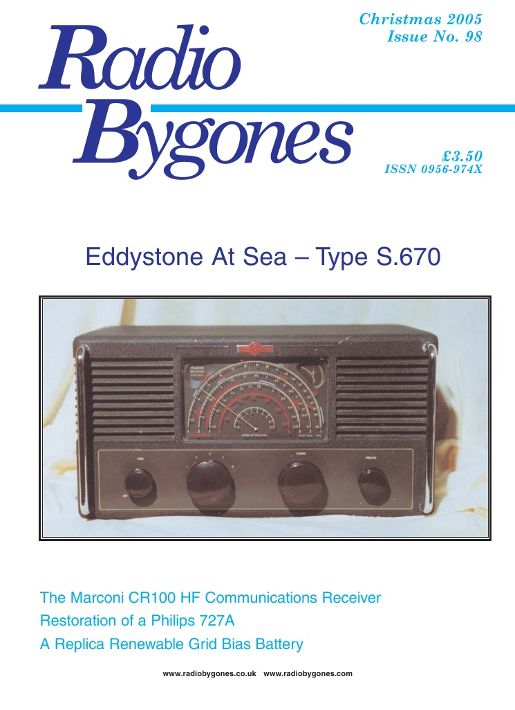 Radio Bygones Issue 98 - PDF